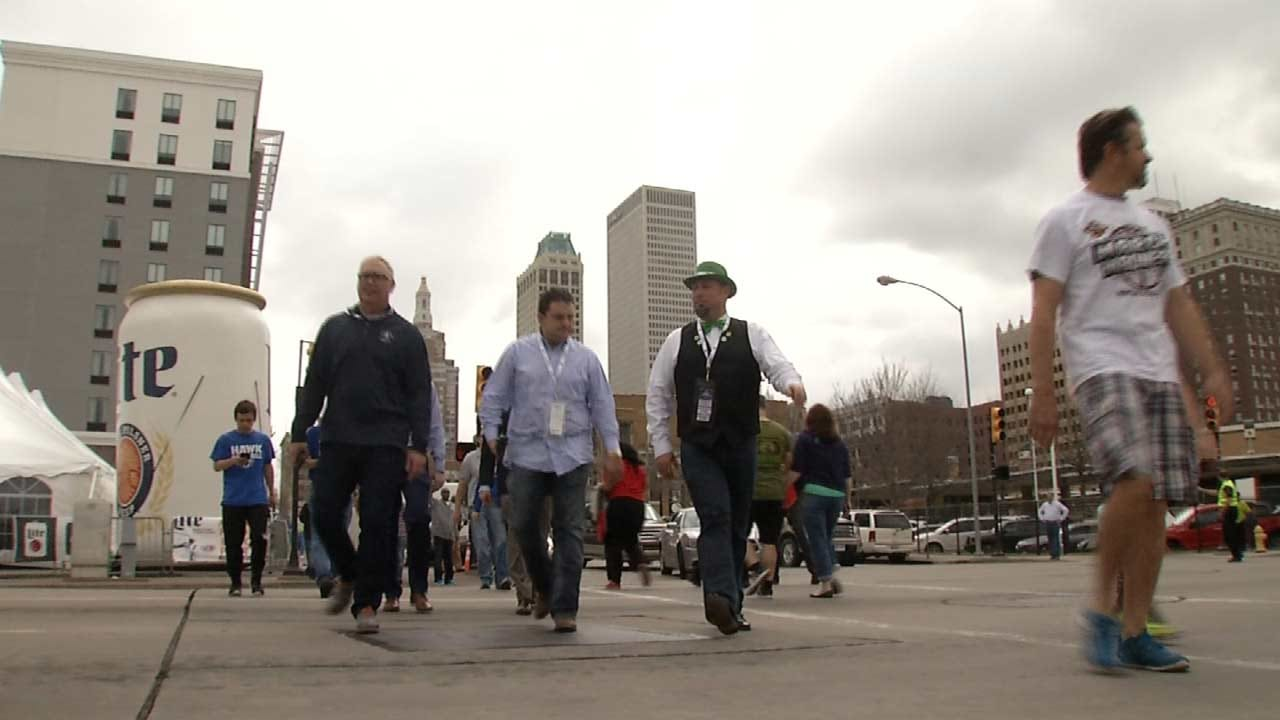 Excitement Grows As Basketball Fans Invade Tulsa
