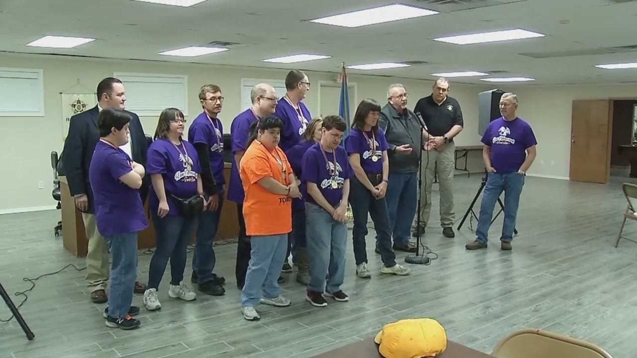 WEB EXTRA: Video Of Tulsa FOP Special Olympic Check Presentation
