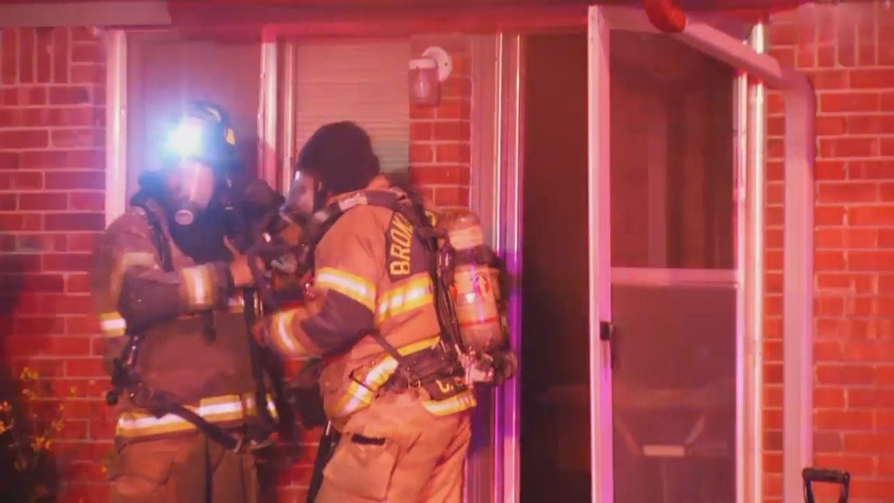 WEB EXTRA: Video From Scene Of Broken Arrow Apartment Fire