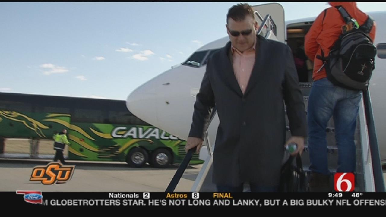 OSU Hoops: Cowboys Arrive In Indianapolis
