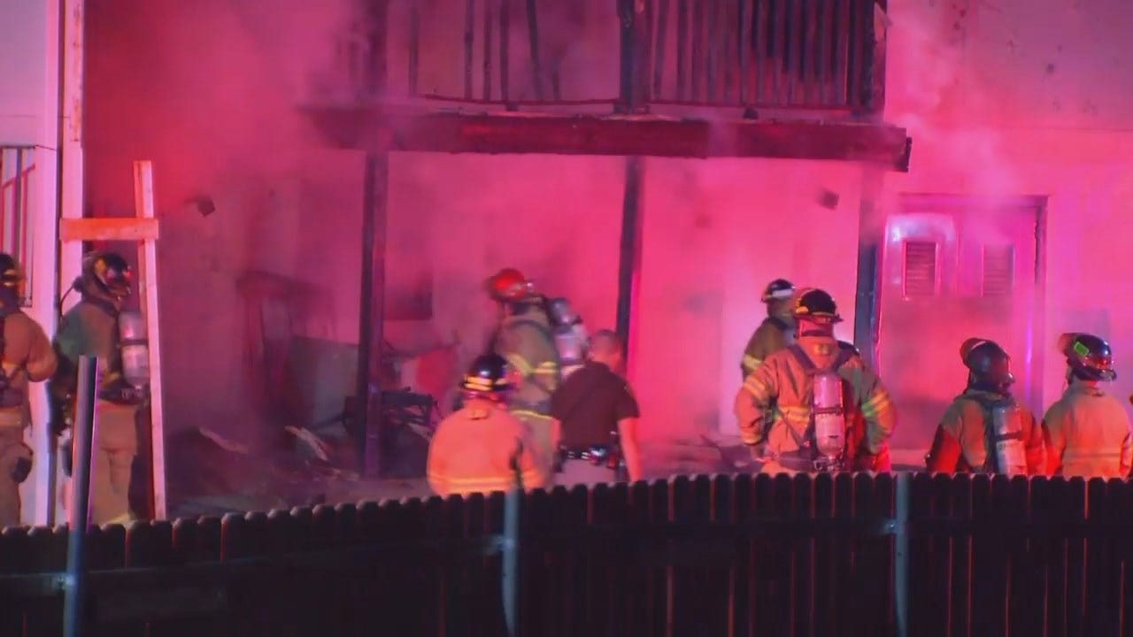 WEB EXTRA: VIdeo From Scene Of Tulsa Motel Fire