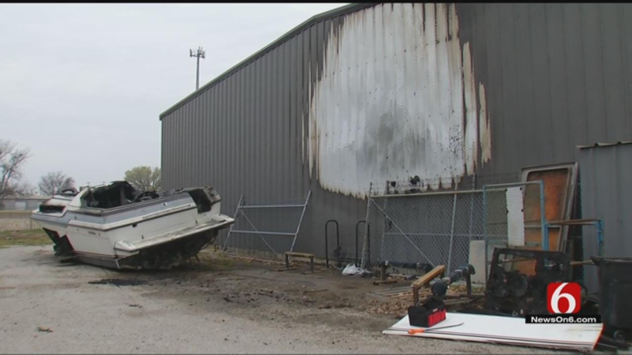 Tulsa Woman Thankful Boat Fire Didn't Destroy Family Business