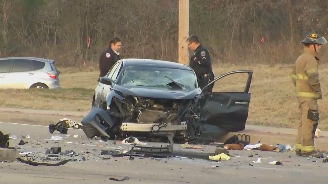 Dave Davis Reports On Tulsa Crash At Apache & Tisdale Expressway Exit Ramp