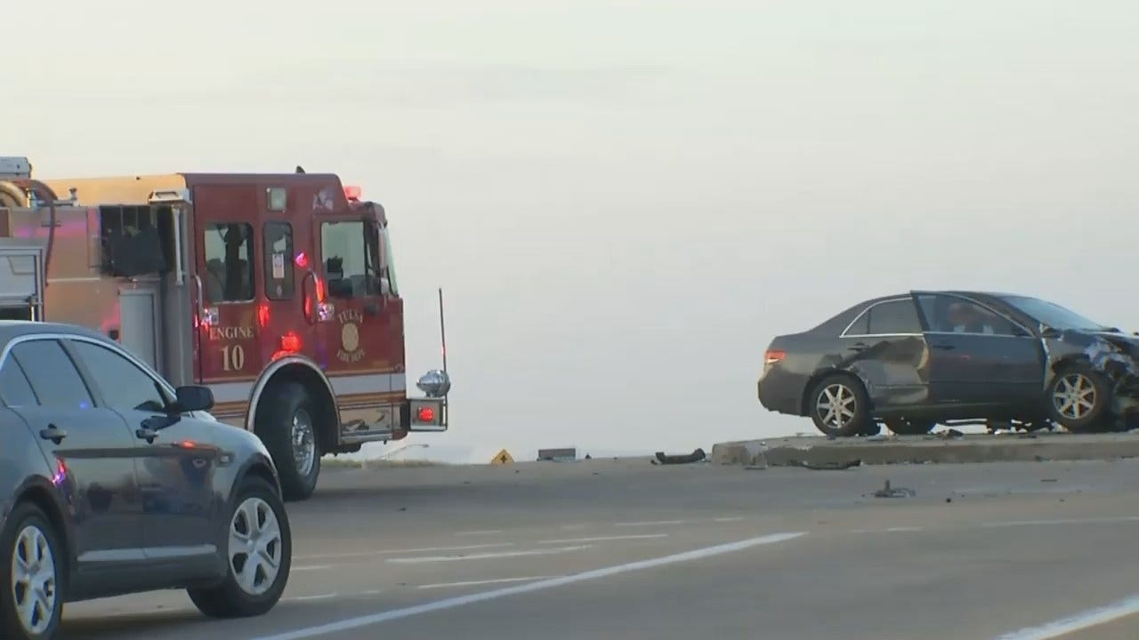 WEB EXTRA: Video From Scene Of Two Car Crash At Apache and Tisdale Expressway