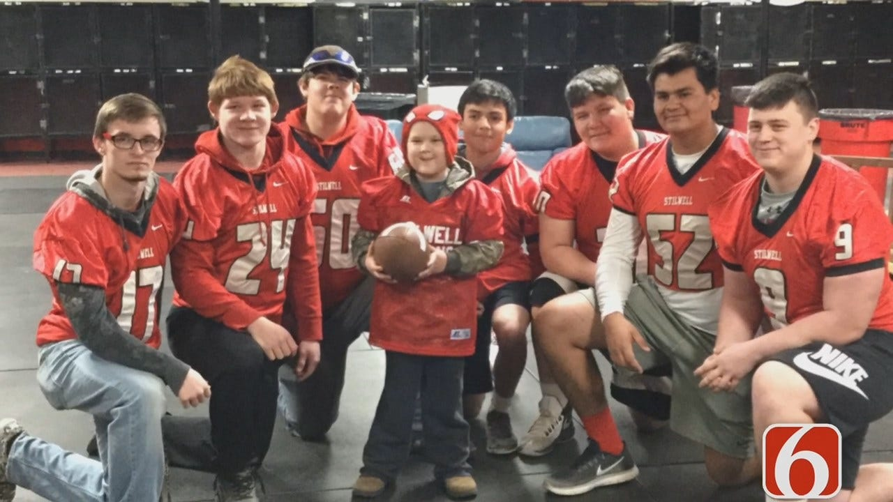 Tess Maune: Stilwell Boy Battling Cancer Suits Up With Varsity Football Team