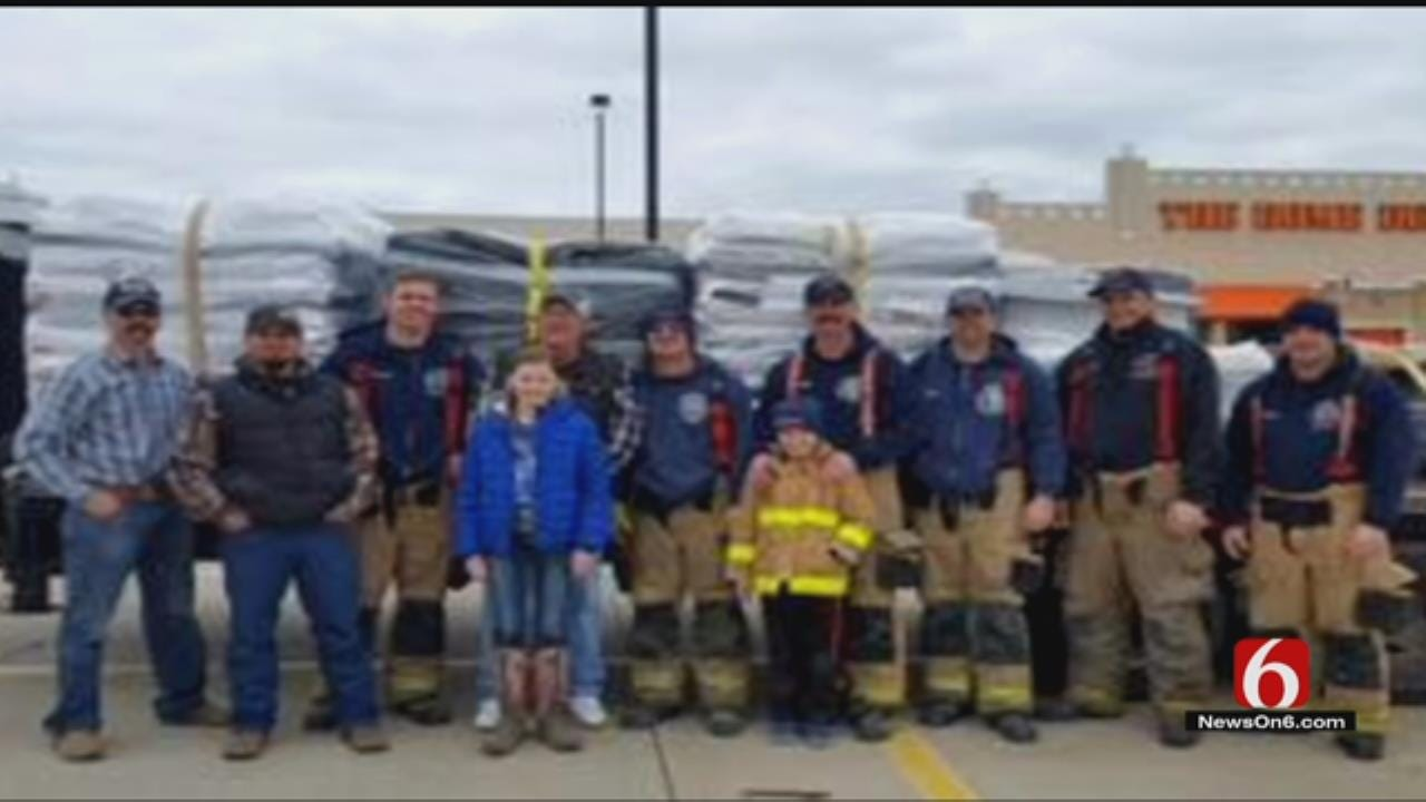 Tulsa Firefighters Help Group Donating Supplies After Wildfires