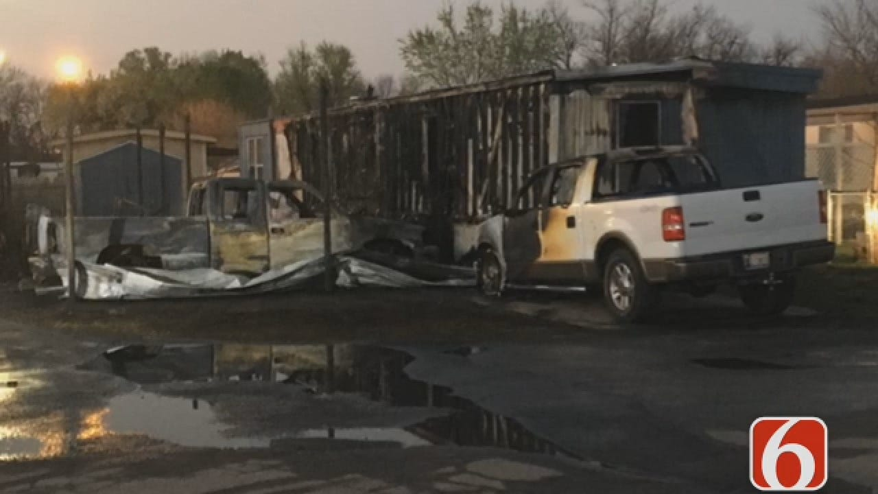 Joseph Holloway Reports Three Injured In Tulsa Mobile Home Fire
