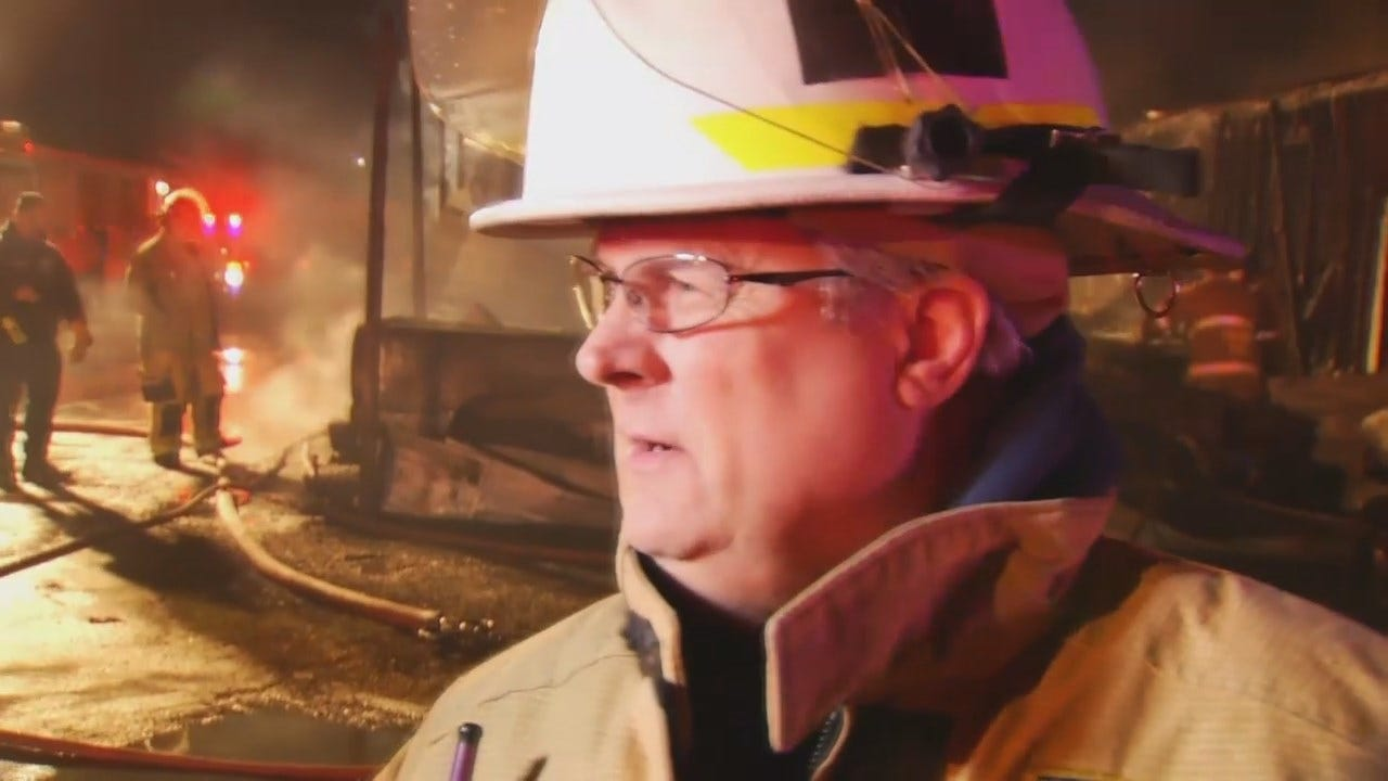 WEB EXTRA: Tulsa Fire District Chief Ronnie Cole Talks About Fire