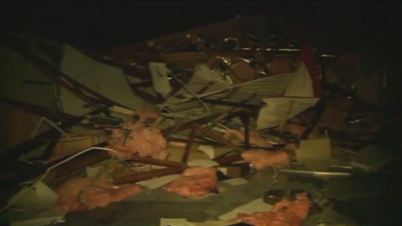 WEB EXTRA: KFSM TV Video From Greasy, Oklahoma Of Storm Damage