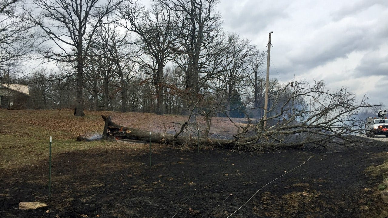 Firefighters Battle Wildfires In Okmulgee County