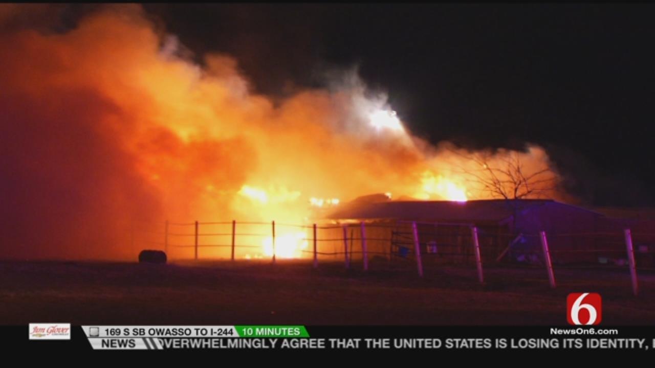 WATCH: Dramatic Video From Broken Arrow Barn Fire