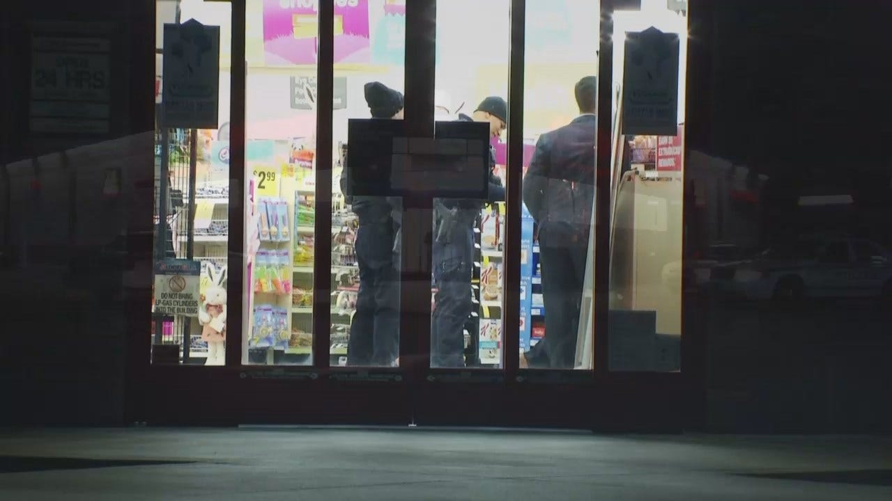 WEB EXTRA: Video From Scene Of Tulsa Armed Robbery