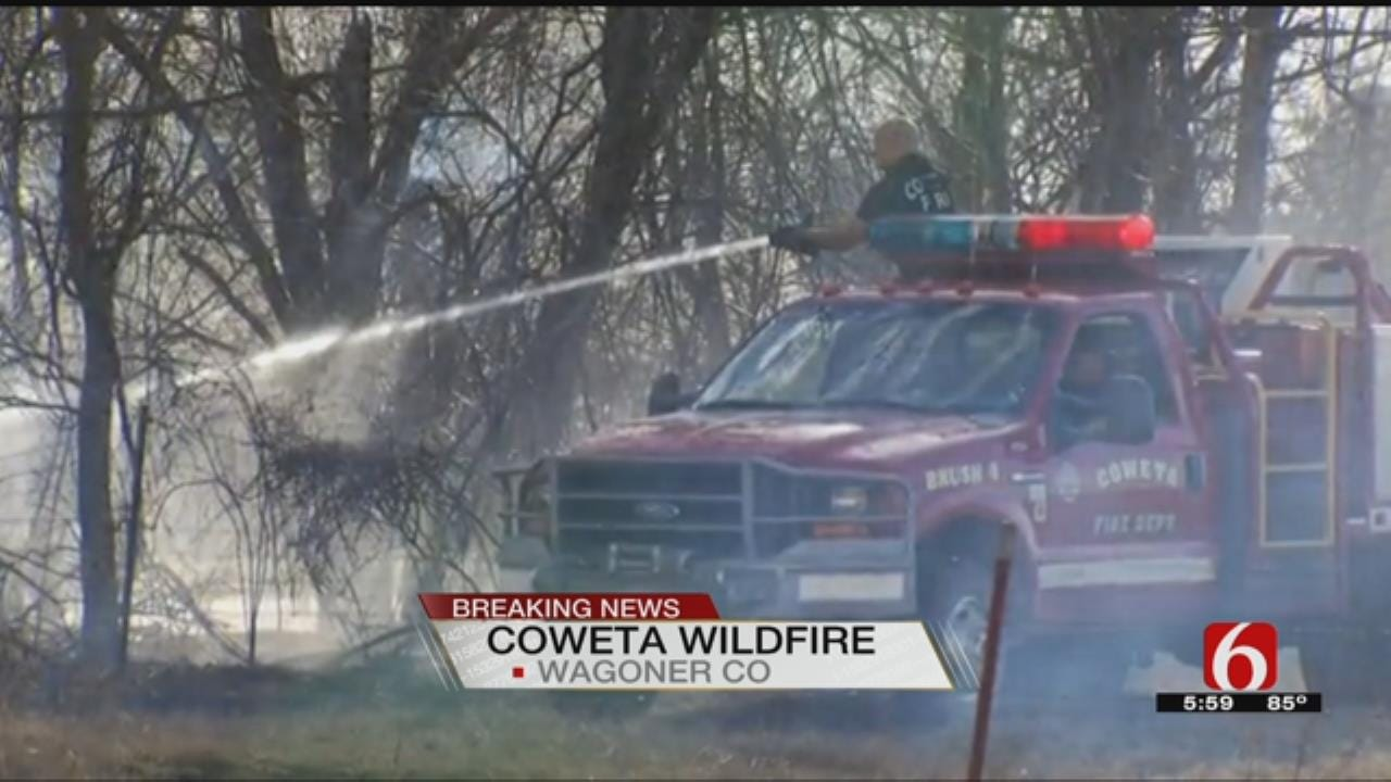 Wildfire Prompts Evacuations In Coweta Area
