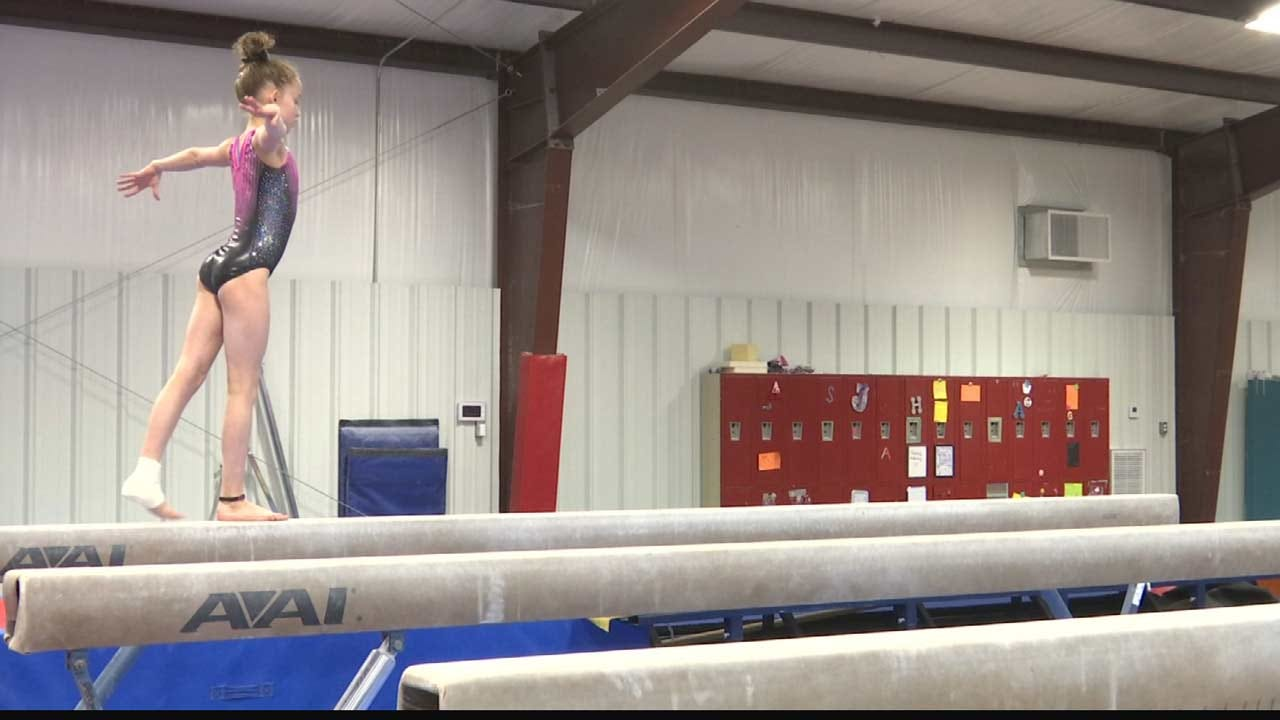 13-Year-Old Tulsa Gymnast Goes 'Hands-Free' After Elbow Surgery