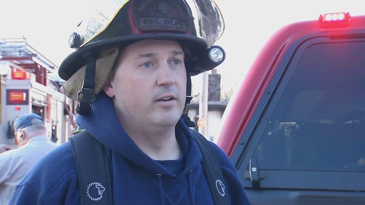 WEB EXTRA: Tulsa Firefighter Josh Land Talks About The Fire