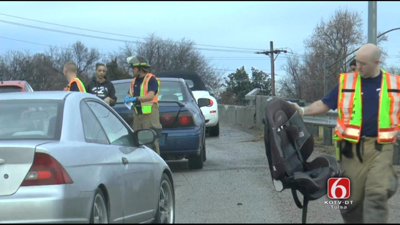 WEB EXTRA: Two Wrecks On Highway 75 During Wet Weather