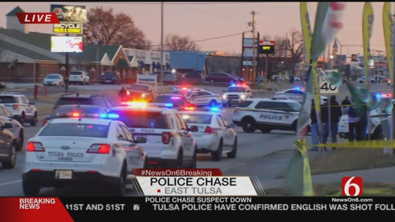 Police Chase Ends Near 45th And Mingo