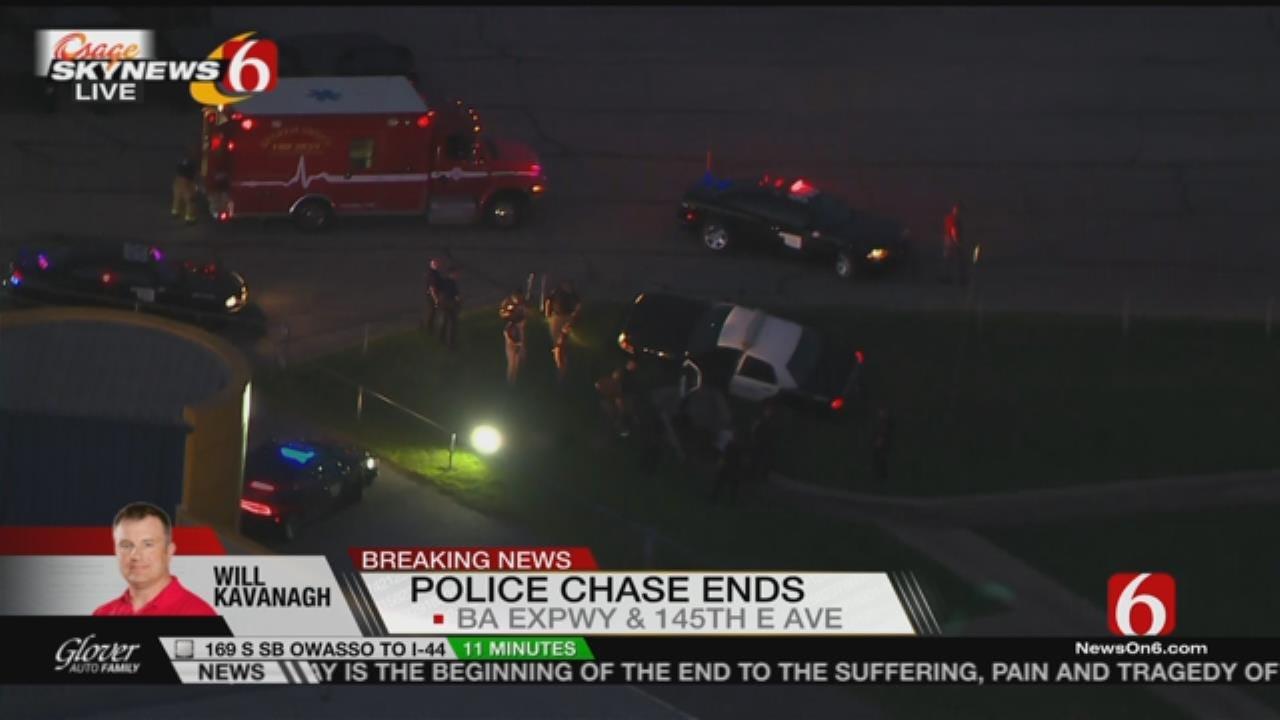 Osage SkyNews 6 HD Flies Over Tulsa Chase, Crash