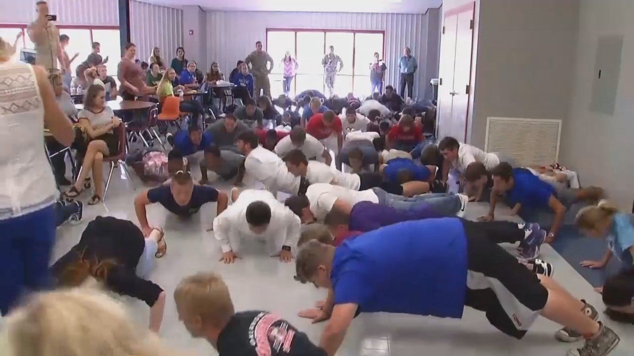 WEB EXTRA: Video Of Glenpool Students Doing Pushups