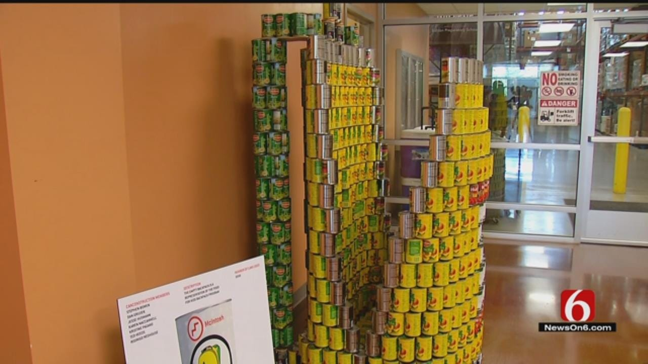 OK Design Firms Create With Cans To Raise Money, Food For Food Bank