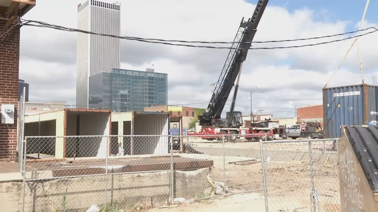 WEB EXTRA: Video From Work Underway At The Boxyard In Downtown Tulsa