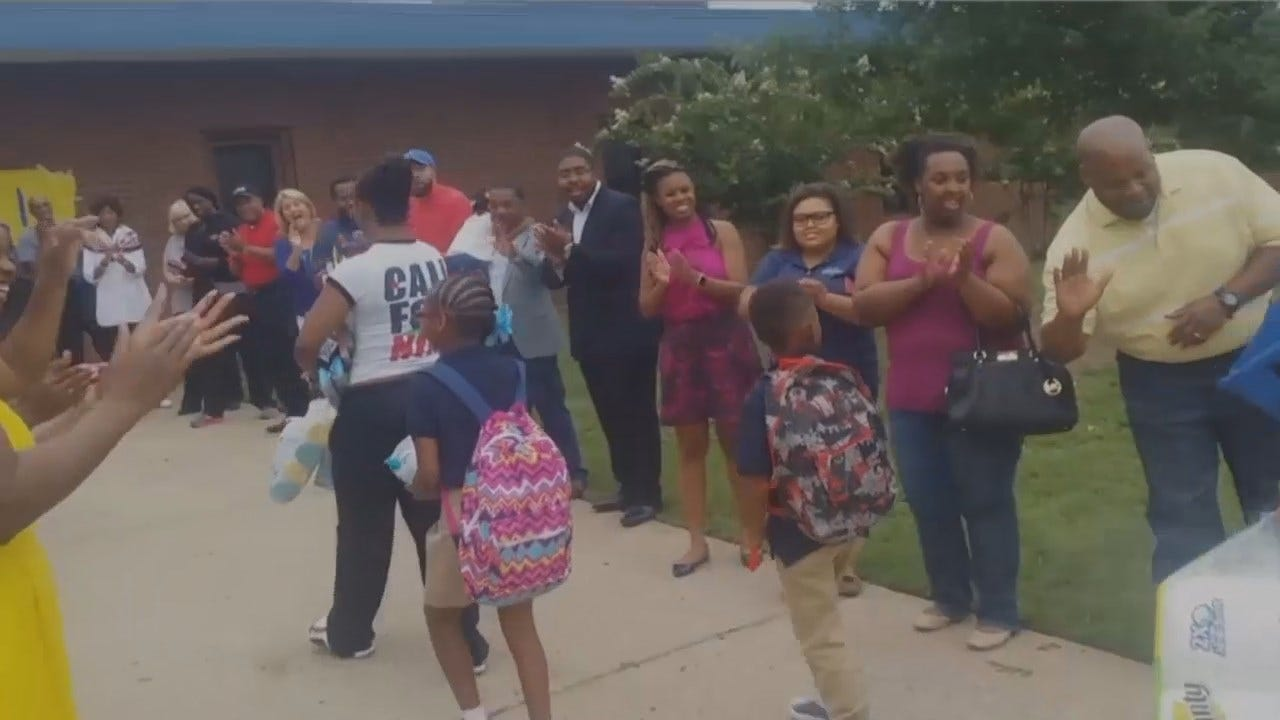 WEB EXTRA: Students Get A Big Welcome Back At One Tulsa Charter School