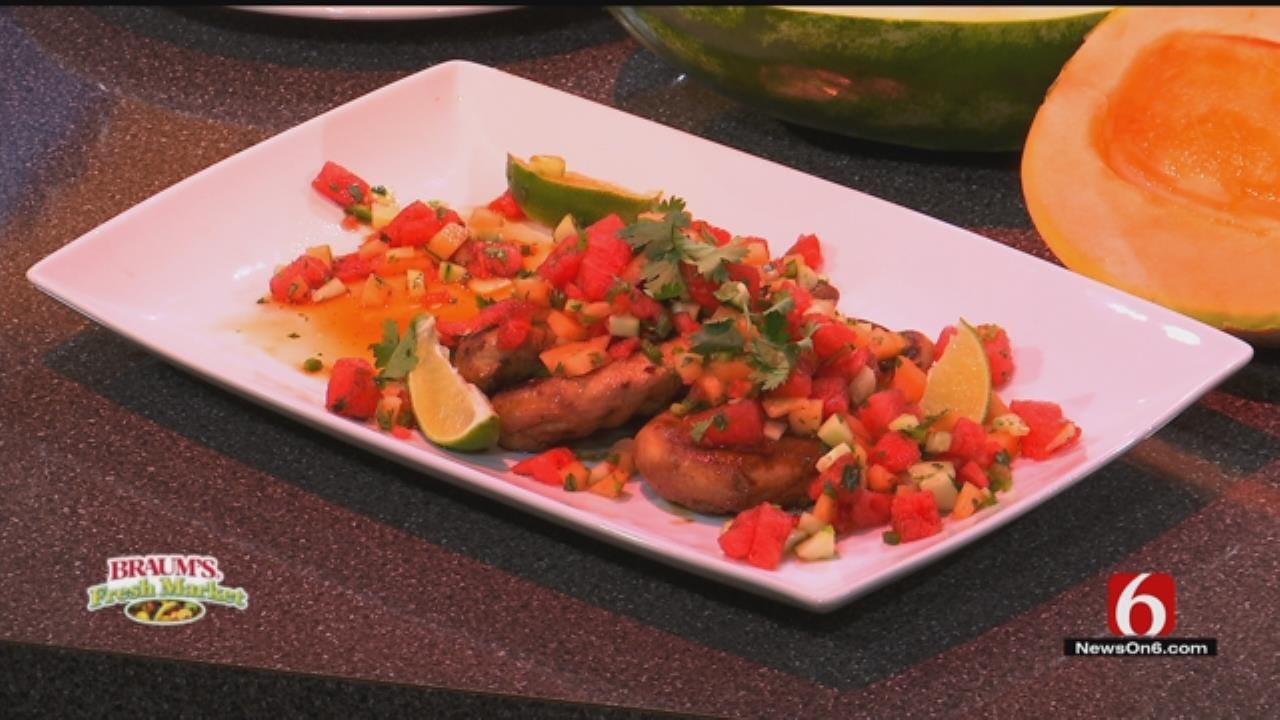 Marinated Grilled Chicken with Cucumber-Watermelon Salsa