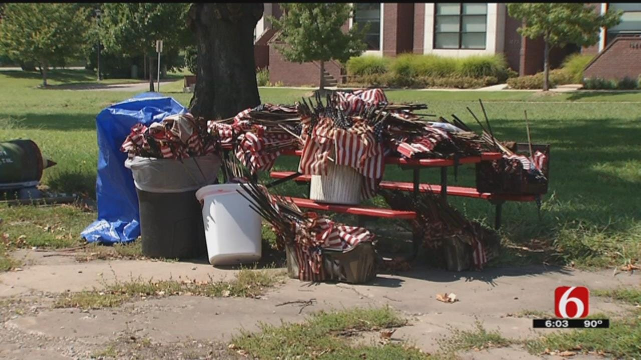 ROTC Cadets Replace Flags Lost In Tulsa American Legion Post Fire