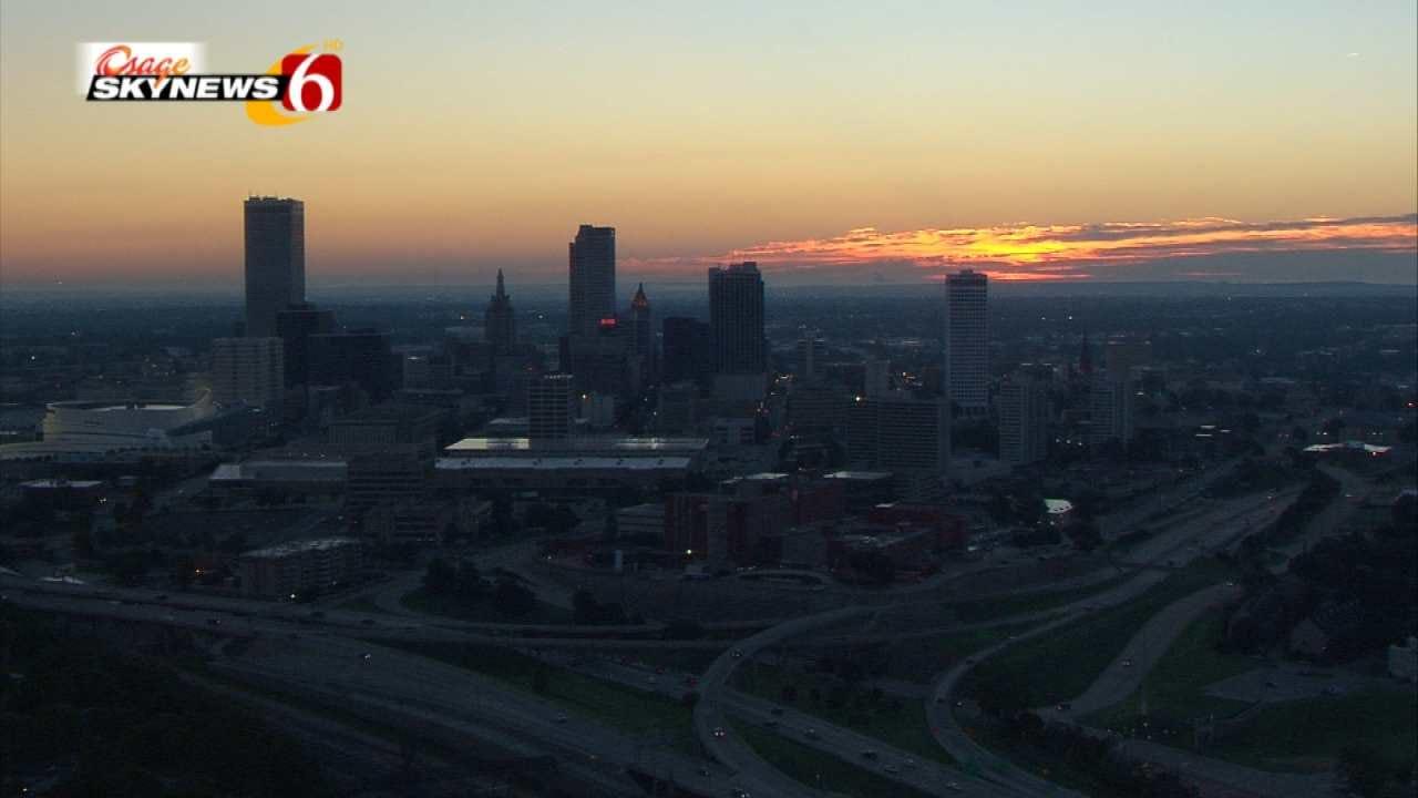 A Foggy Tulsa Sunrise As Seen From Osage SkyNews 6 HD