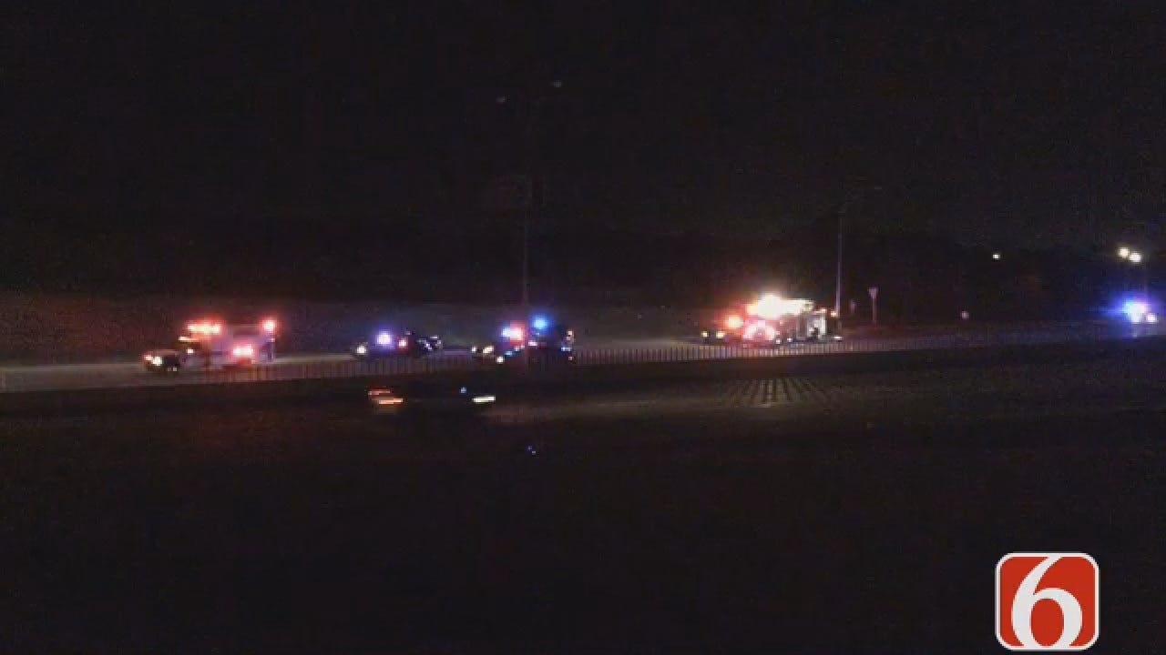 Dave Davis Reports On Fatal Pedestrian Crash On I-44 In East Tulsa