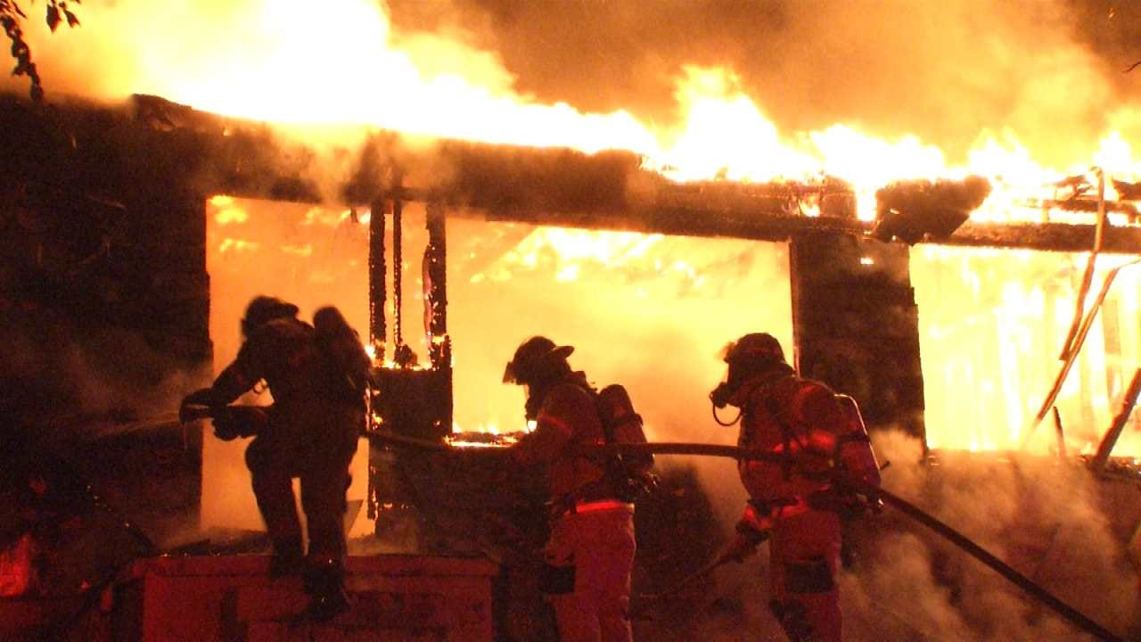 WEB EXTRA: Scenes From Tulsa House Fire