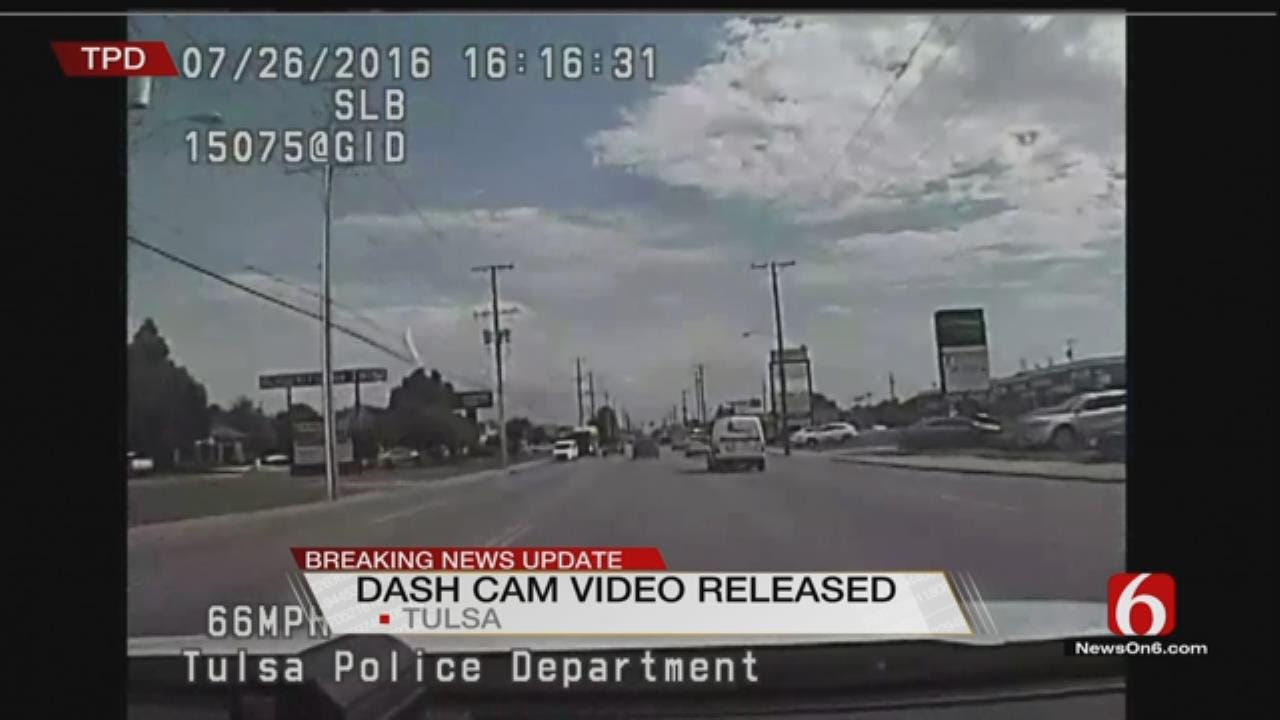 Dash Cam Video Released In Crosstown Tulsa Police Chase