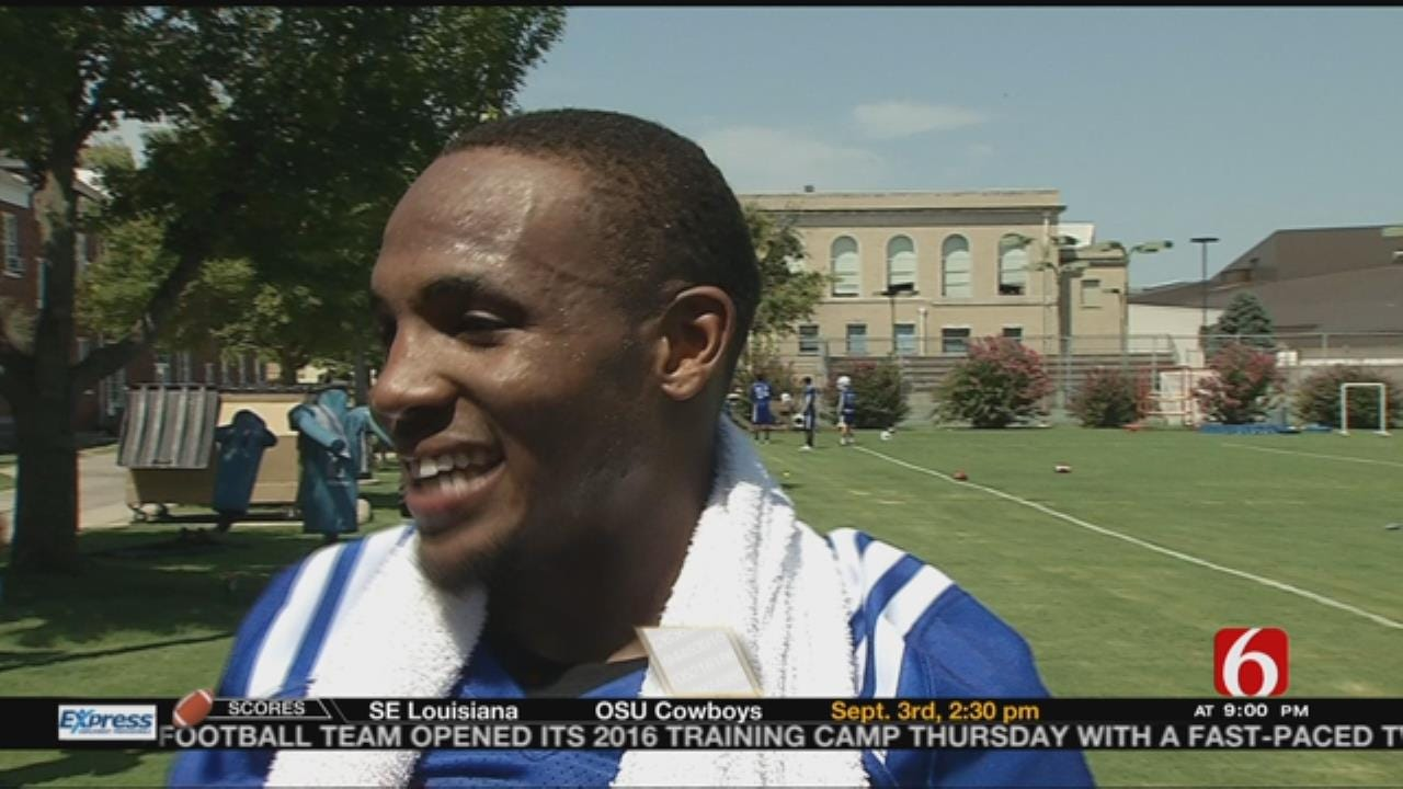 TU's Keevan Lucas Talks Day 1 Of Practice, Returning From ACL Injury