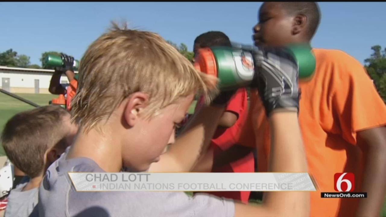 OK Youth Football Players Adjust To Heat As Practice Begins