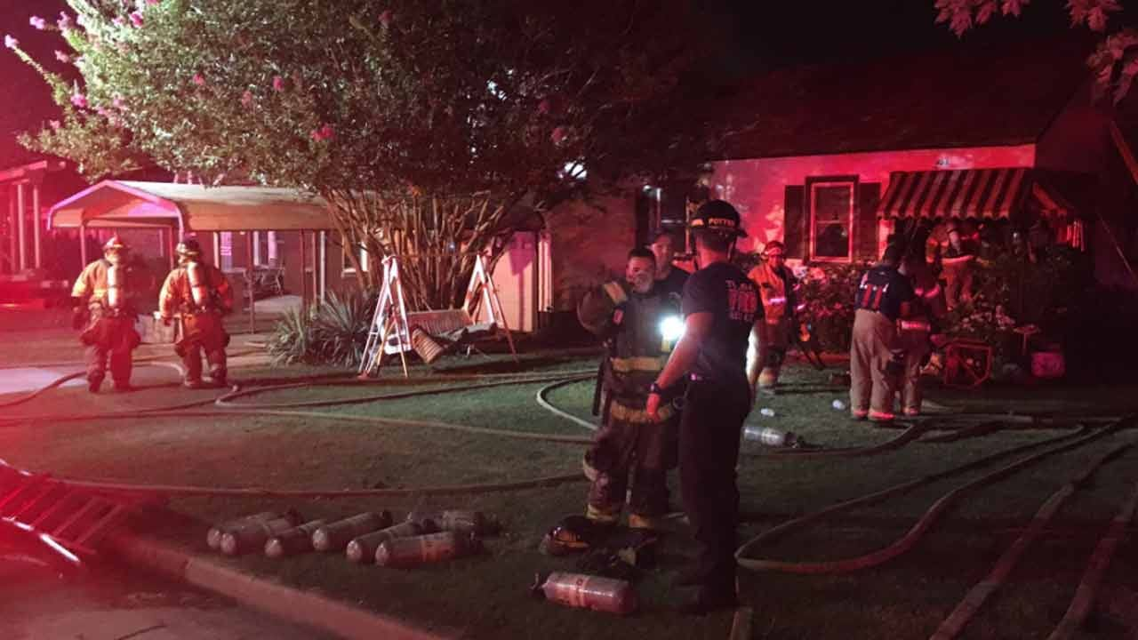 Multiple Trucks Respond To Tulsa House Fire