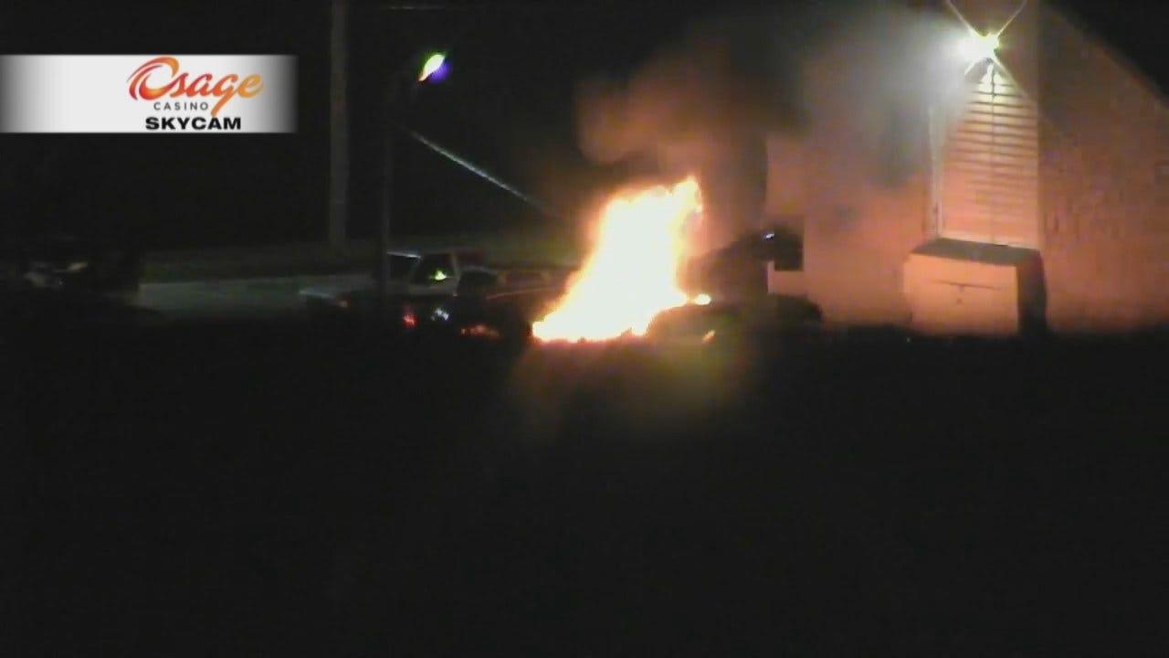 Osage Casino SkyCam Network Captures Car Fire Video