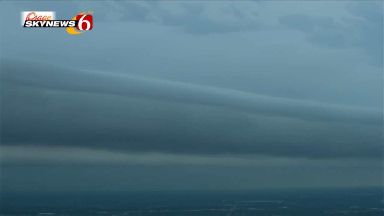 Osage SkyNews 6 HD Spots Shelf Cloud As It Passed Over Tulsa