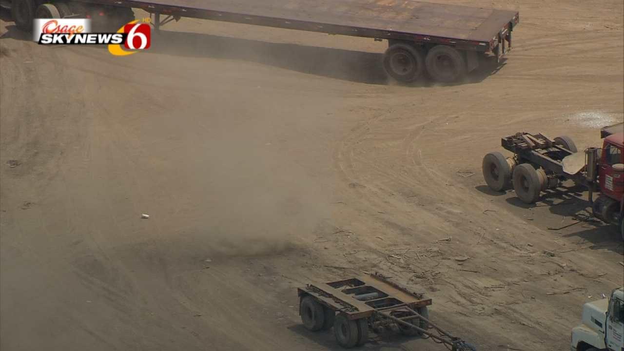 Tulsa Dust Devil Caught On Video By Osage SkyNews 6 HD