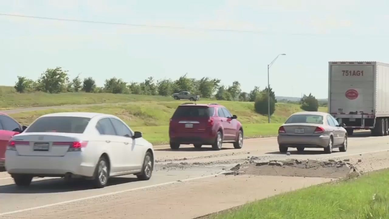 WEB EXTRA: Video Of The Sequoyah County Buckled Road