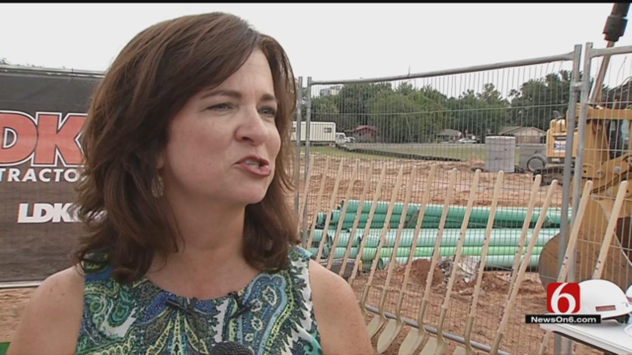 Jenks School Leaders Break Ground For New Dining Hall