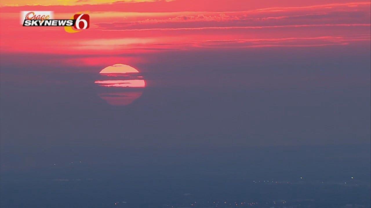 Tulsa Sunrise Captured By Osage SkyNews 6 HD
