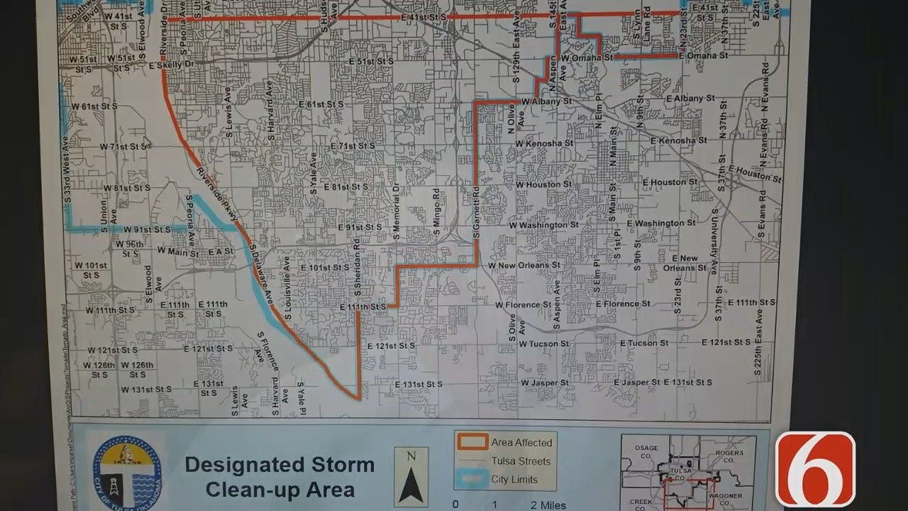 Dave Davis Reports On Tulsa Storm Debris Clean Up