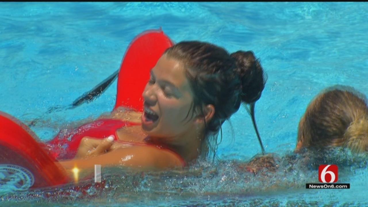 Tulsa Lifeguards Compete In 'Lifeguard Olympics'