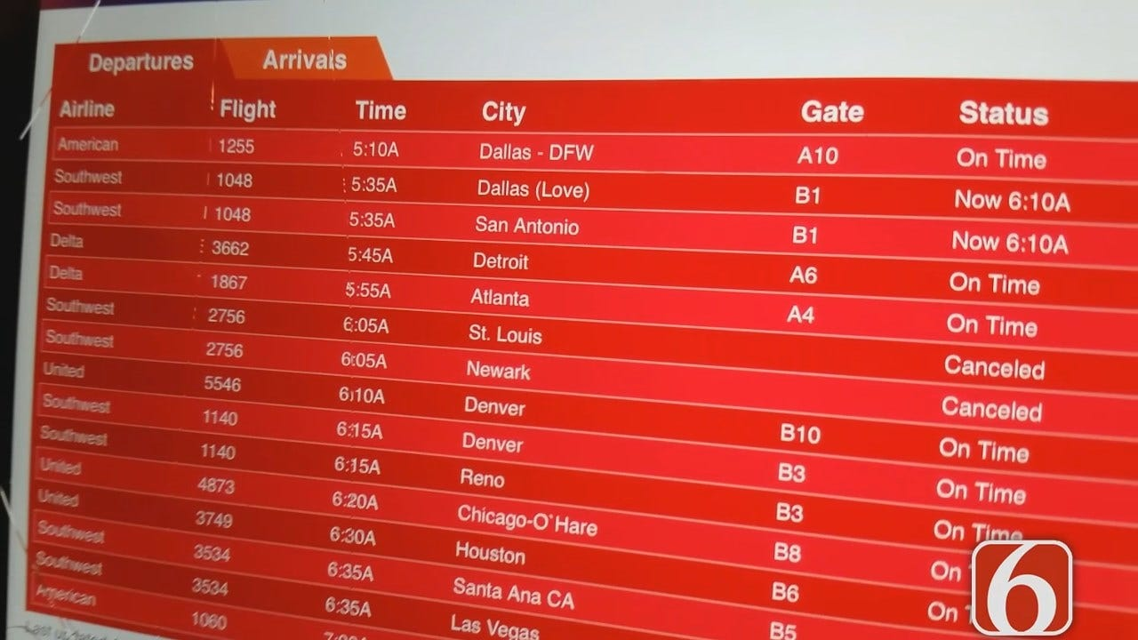 Dave Davis Has Friday Morning Update From Southwest Airlines Check In At Tulsa International Airport