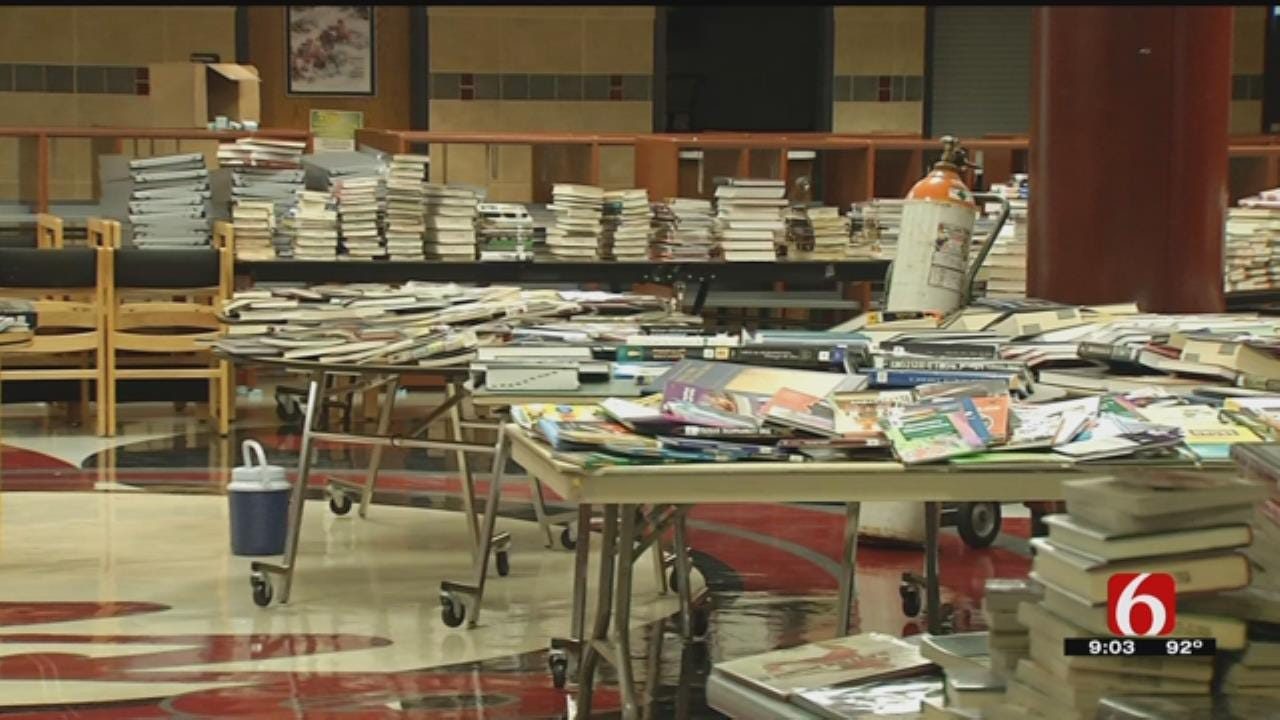 Burst Pipe Causes Water Damage In Owasso High School Library