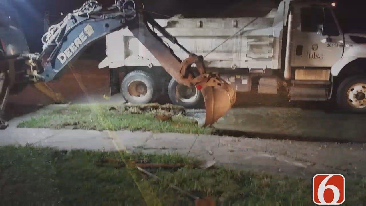 Dave Davis Reports Work Underway To Fix Tulsa Water Main Break