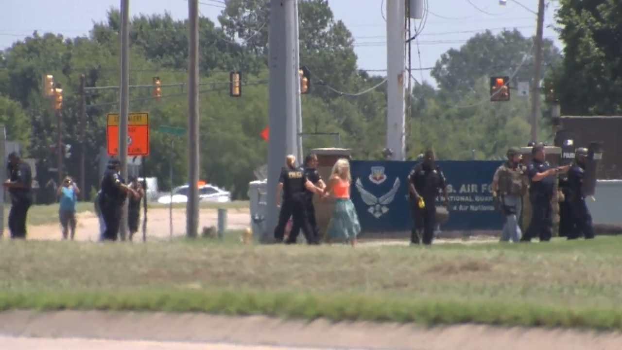 WATCH: Woman Taken Into Custody Outside Air National Guard
