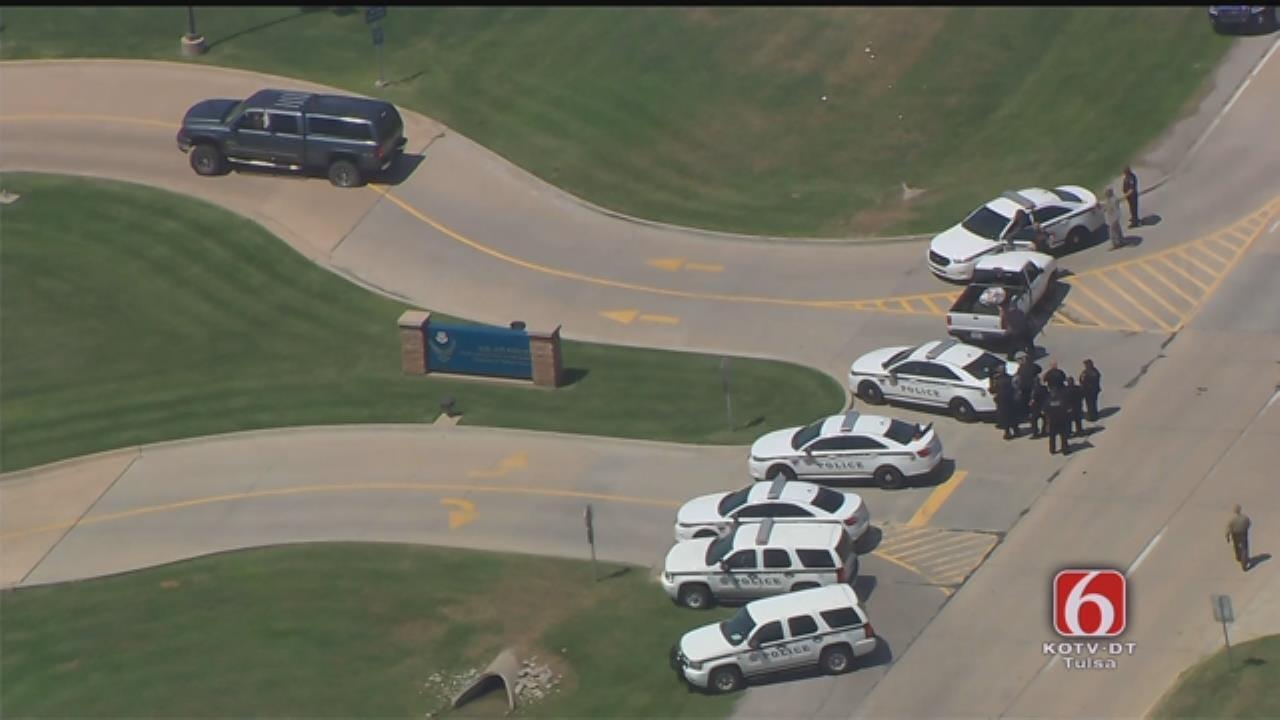 WEB EXTRA: Pickup Driver Involved In Standoff At Tulsa Air National Guard Base