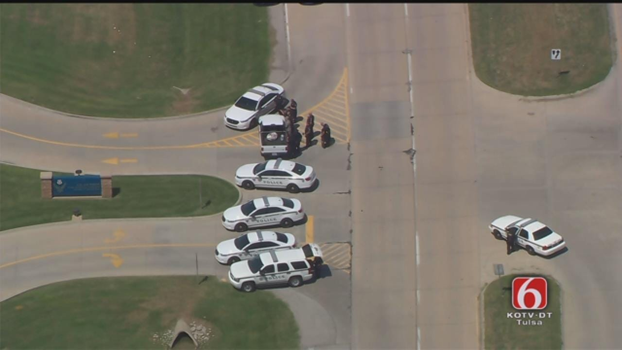 WEB EXTRA: Tulsa Police Called To Incident At Oklahoma Air National Guard