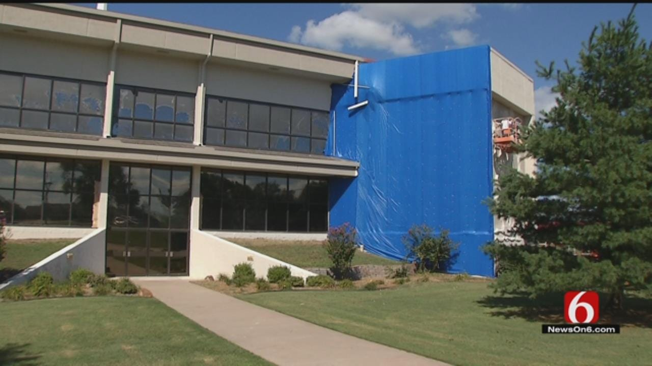 Volunteers Working To Repair Tulsa Church Damaged From Storms